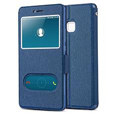 Coque Portefeuille Livre Cuir L01 pour Huawei P9 Lite Bleu