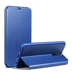 Coque Portefeuille Livre Cuir L01 pour Huawei Rhone Bleu