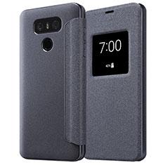 Coque Portefeuille Livre Cuir L01 pour LG G6 Noir