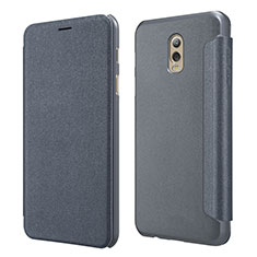 Coque Portefeuille Livre Cuir L01 pour Samsung Galaxy C8 C710F Noir