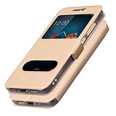 Coque Portefeuille Livre Cuir L01 pour Samsung Galaxy J5 (2017) SM-J750F Or