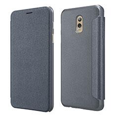 Coque Portefeuille Livre Cuir L01 pour Samsung Galaxy J7 Plus Noir