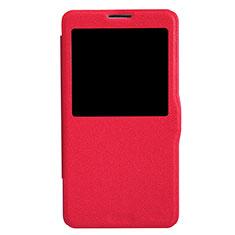Coque Portefeuille Livre Cuir L01 pour Samsung Galaxy Note 3 N9000 Rouge