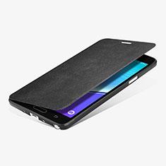 Coque Portefeuille Livre Cuir L01 pour Samsung Galaxy Note 4 SM-N910F Noir