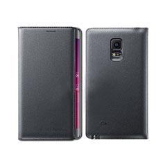 Coque Portefeuille Livre Cuir L01 pour Samsung Galaxy Note Edge SM-N915F Noir