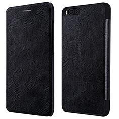 Coque Portefeuille Livre Cuir L01 pour Xiaomi Mi 6 Noir