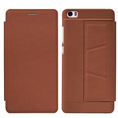 Coque Portefeuille Livre Cuir L01 pour Xiaomi Mi Note Marron