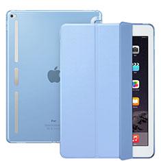 Coque Portefeuille Livre Cuir L02 pour Apple iPad Pro 12.9 Bleu Ciel