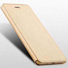 Coque Portefeuille Livre Cuir L02 pour Huawei Honor 6C Pro Or