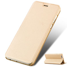 Coque Portefeuille Livre Cuir L02 pour Huawei Honor View 10 Or