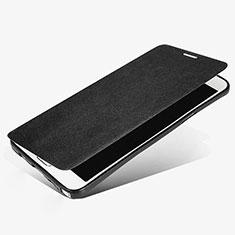 Coque Portefeuille Livre Cuir L02 pour Samsung Galaxy Note 5 N9200 N920 N920F Noir
