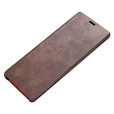 Coque Portefeuille Livre Cuir L02 pour Samsung Galaxy Note 8 Duos N950F Marron