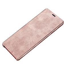 Coque Portefeuille Livre Cuir L02 pour Samsung Galaxy Note 8 Rose