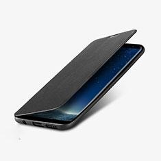 Coque Portefeuille Livre Cuir L02 pour Samsung Galaxy S8 Plus Noir