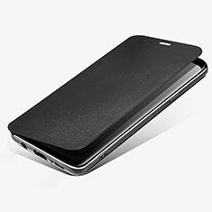 Coque Portefeuille Livre Cuir L02 pour Samsung Galaxy S9 Noir