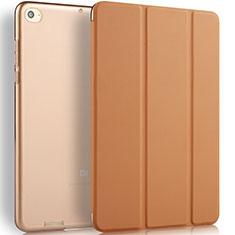 Coque Portefeuille Livre Cuir L02 pour Xiaomi Mi Pad 3 Marron