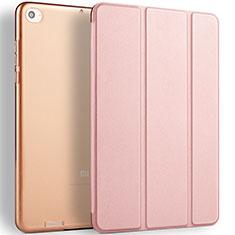 Coque Portefeuille Livre Cuir L02 pour Xiaomi Mi Pad 3 Or Rose
