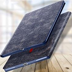 Coque Portefeuille Livre Cuir L03 pour Apple New iPad 9.7 (2018) Bleu
