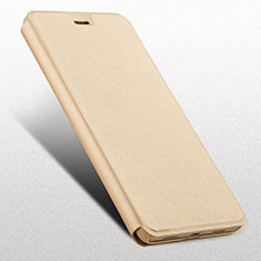 Coque Portefeuille Livre Cuir L03 pour Huawei Honor 6X Pro Or