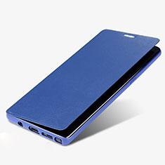 Coque Portefeuille Livre Cuir L03 pour Samsung Galaxy Note 8 Duos N950F Bleu