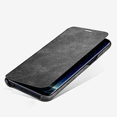 Coque Portefeuille Livre Cuir L03 pour Samsung Galaxy S8 Plus Noir