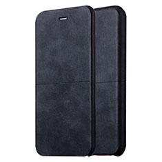 Coque Portefeuille Livre Cuir L04 pour Apple iPhone 6 Noir