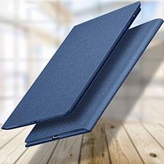 Coque Portefeuille Livre Cuir L04 pour Apple New iPad 9.7 (2017) Bleu
