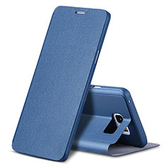 Coque Portefeuille Livre Cuir L04 pour Samsung Galaxy Note 5 N9200 N920 N920F Bleu