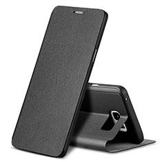 Coque Portefeuille Livre Cuir L04 pour Samsung Galaxy Note 5 N9200 N920 N920F Noir