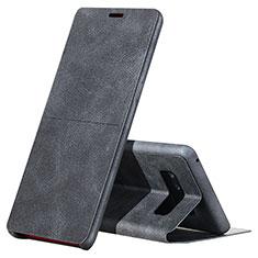 Coque Portefeuille Livre Cuir L04 pour Samsung Galaxy Note 8 Duos N950F Noir