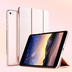 Coque Portefeuille Livre Cuir L04 pour Xiaomi Mi Pad 3 Or Rose