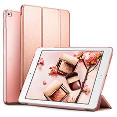 Coque Portefeuille Livre Cuir L05 pour Apple iPad Mini 4 Or Rose