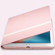 Coque Portefeuille Livre Cuir L05 pour Apple New iPad 9.7 (2017) Rose