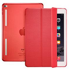 Coque Portefeuille Livre Cuir L06 pour Apple iPad Mini 4 Rouge