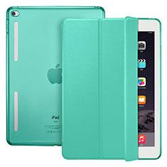 Coque Portefeuille Livre Cuir L06 pour Apple iPad Mini 4 Vert