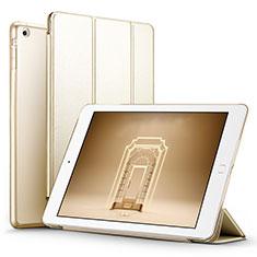 Coque Portefeuille Livre Cuir L06 pour Apple iPad Mini Or
