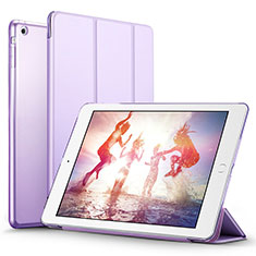 Coque Portefeuille Livre Cuir L06 pour Apple iPad Mini Violet