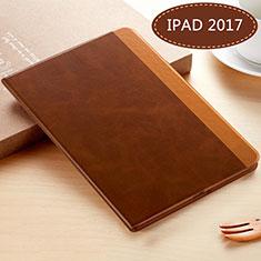 Coque Portefeuille Livre Cuir L06 pour Apple New iPad 9.7 (2017) Marron