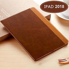 Coque Portefeuille Livre Cuir L06 pour Apple New iPad 9.7 (2018) Marron