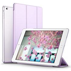 Coque Portefeuille Livre Cuir L07 pour Apple iPad Mini Violet