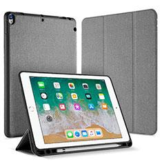 Coque Portefeuille Livre Cuir L07 pour Apple iPad Pro 10.5 Gris