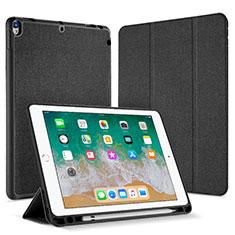 Coque Portefeuille Livre Cuir L07 pour Apple iPad Pro 10.5 Noir