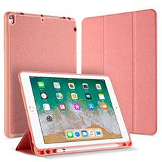Coque Portefeuille Livre Cuir L07 pour Apple iPad Pro 10.5 Or Rose