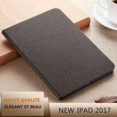 Coque Portefeuille Livre Cuir L07 pour Apple New iPad 9.7 (2017) Noir