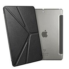 Coque Portefeuille Livre Cuir L08 pour Apple New iPad 9.7 (2018) Noir