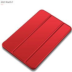 Coque Portefeuille Livre Cuir L09 pour Apple New iPad 9.7 (2017) Rouge