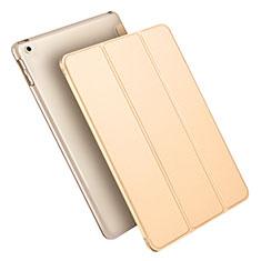 Coque Portefeuille Livre Cuir L09 pour Apple New iPad 9.7 (2018) Or