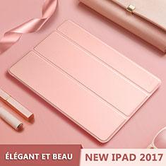 Coque Portefeuille Livre Cuir L10 pour Apple New iPad 9.7 (2018) Or Rose