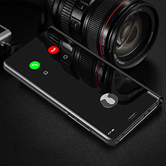 Coque Portefeuille Livre Cuir Miroir Housse Etui Clapet L01 pour Huawei Y9a Noir