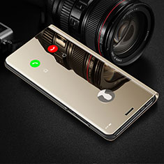 Coque Portefeuille Livre Cuir Miroir Housse Etui Clapet L02 pour Apple iPhone 12 Max Or